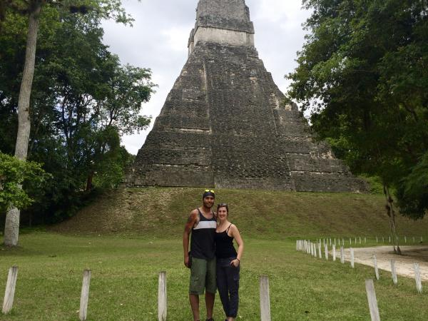 Exploring the temples at Tikal