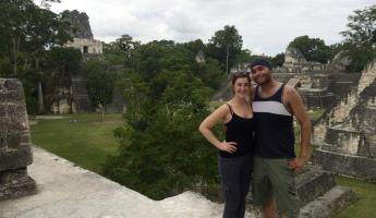 Overlooking the main plaza at Tikal