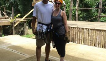 All geared up and ready to zipline