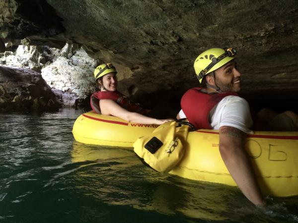 Relaxing ride along the river and through the caves