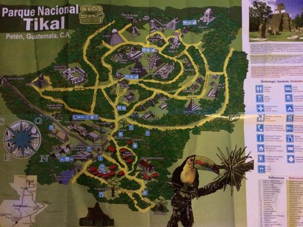 Map of Tikal Ruins