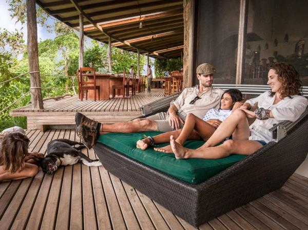 Family relaxing at Galapagos Safari Camp