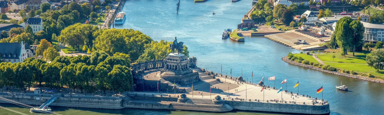 River through Koblenz Germany