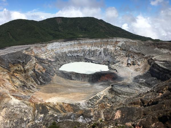 Poas Volcano - beautiful! And a bit smelly. That little lake is full of sulfur-smelling goop.