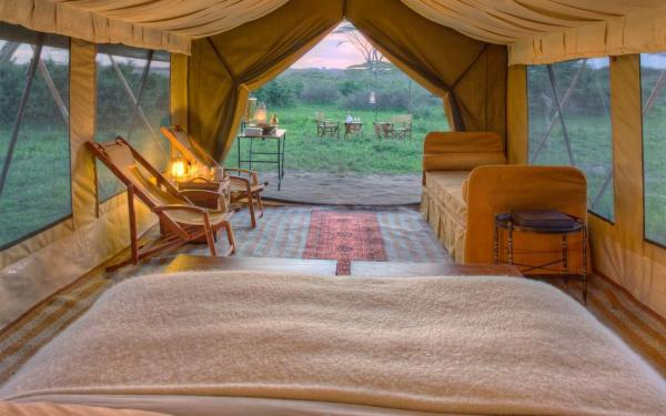 Tents at &Beyond Serengeti Under Canvas