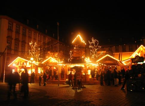 Christmas Market at night.