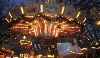 Carousel at Christmas market