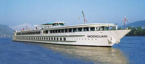 MS Modigliani sailing on the Rhine River