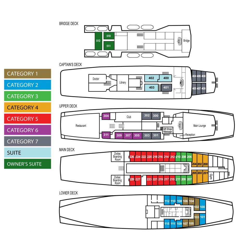 Ocean Adventurer deck plan