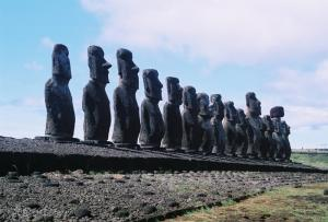 15 Moai at Ahu Tongariki on Easter Island
