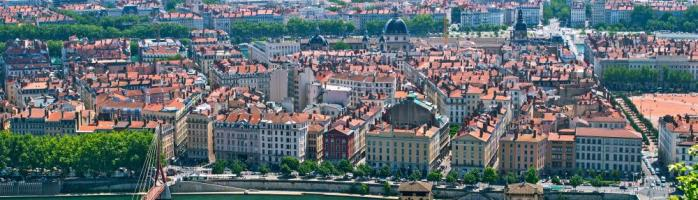 Lyon from above