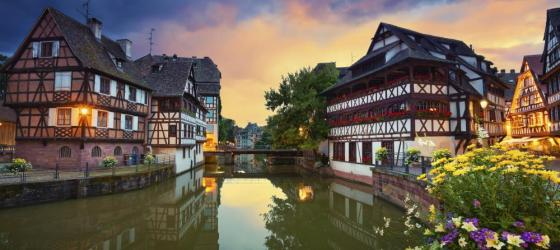 Strasbourg at dusk