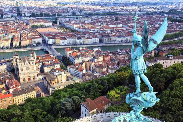 Famous view of Lyon, France