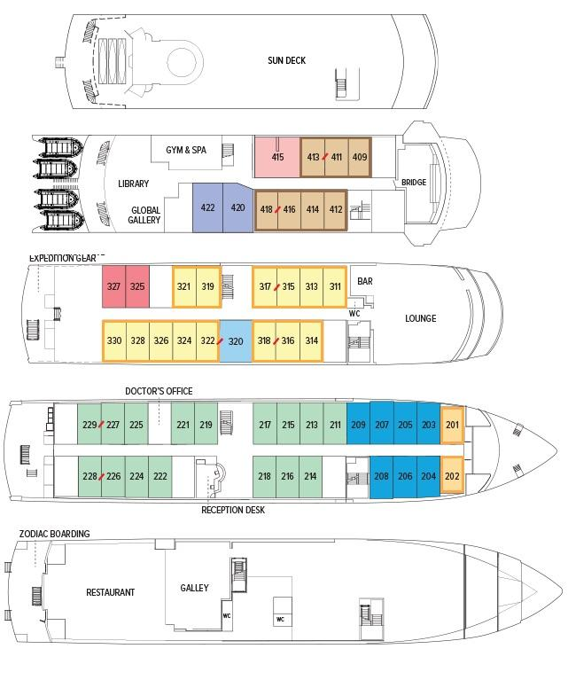 Endeavour II deck plan