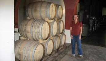 Touring a winery in Argentina