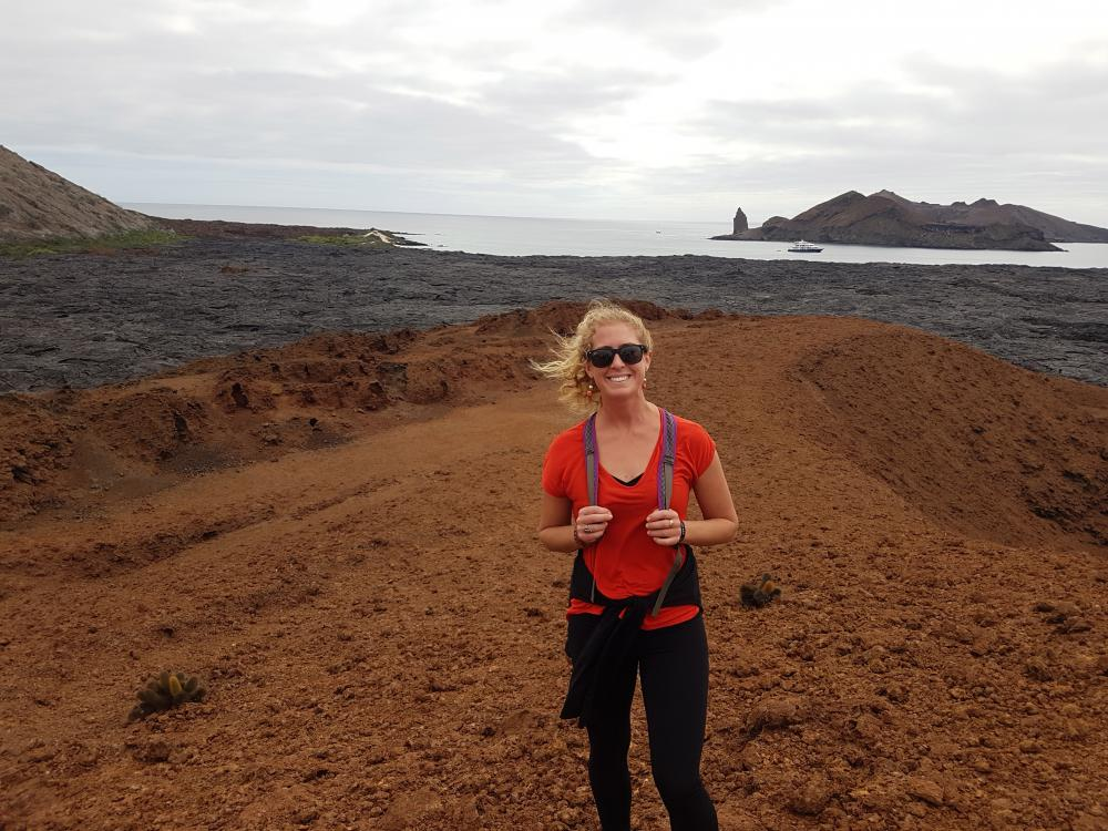 Hiking on Santiago Island