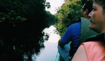 Canal tour in Tortuguero