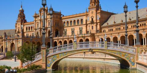 Bridge of Plaza de Espana, Seville