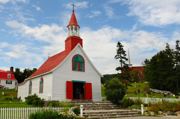 Tadoussac village church, Quebec