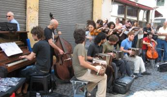 Street musicians in Bueno Aires