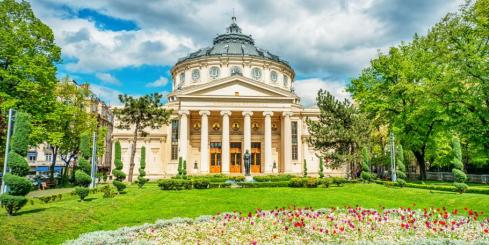 Romanian Athenaeum Of Bucharest, Romania