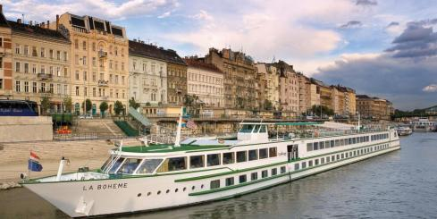 MS La Boheme sailing along the blue Danube