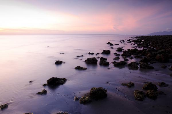 Tide during sunset in Indonesia