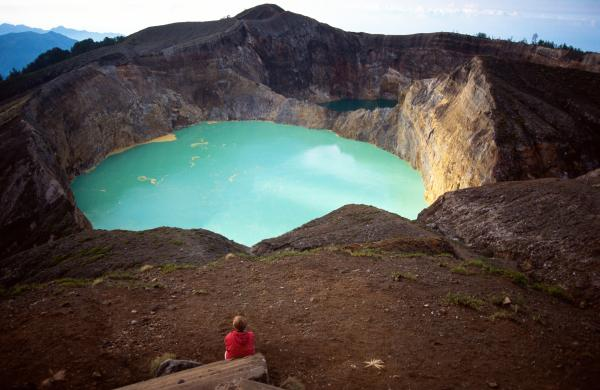 Keli Mutu Crater on Flores Island, Indonesia