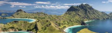 Mountain Range in Komodo National Park, Indonesia