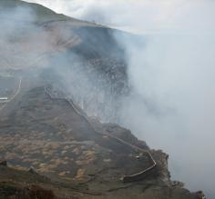 Masaya Volcano, look at all the sulfur!