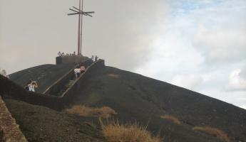 The cross overlooking Masaya Volcano