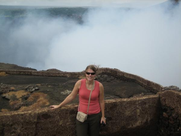 Me in front of the sulfur, I could barely breath!