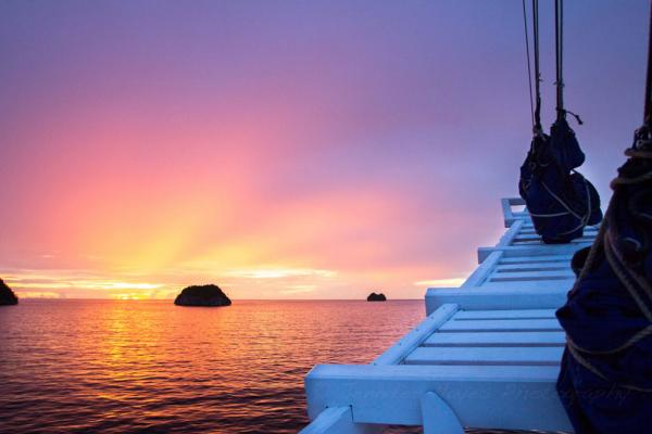Sunsets aboard the Ombak Putih