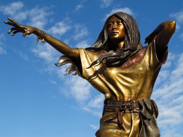 Sacagawea Statue at Oregon's Cascade Locks