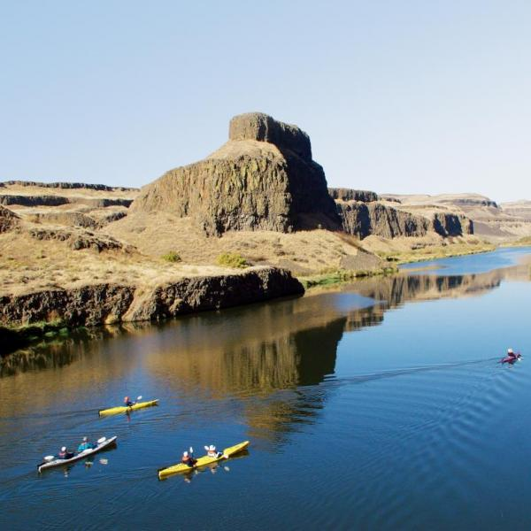 The still water of the Palouse River