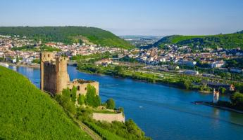Ehrenfels Castle on Rhine River near Rudesheim