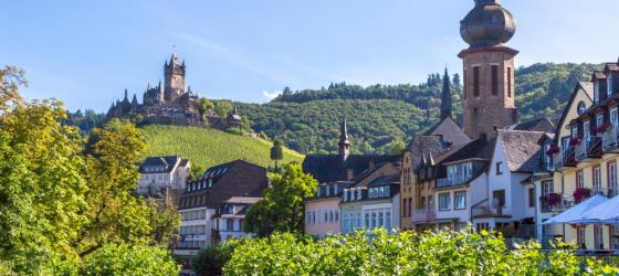 Cochem town on the Mosel River, Germany