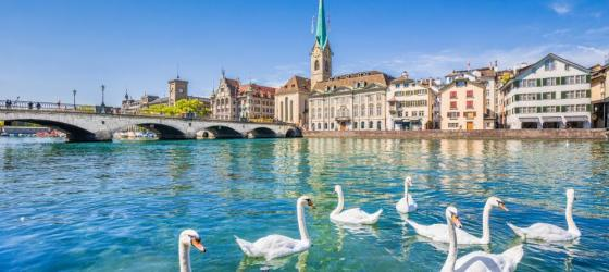 Historic Zurich with River Limmat, Switzerland