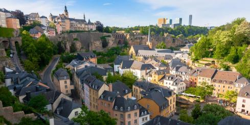 Aerial View over Luxembourg City