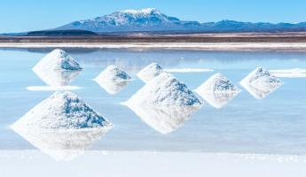Salt lake Uyuni in Bolivia