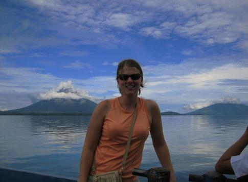 Ometepe Island in the background