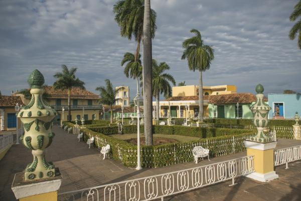 Famous historical park in downtown Trinidad, Cuba