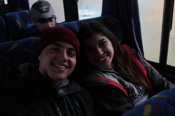 Puerto Natales high schoolers on their way to Torres del Paine National Park