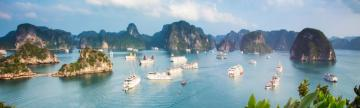 Ships in Halong Bay Vietnam