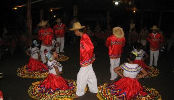 a music and dance show on Ometepe