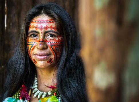 Portrait of an Indigenous Brazilian in the Amazon