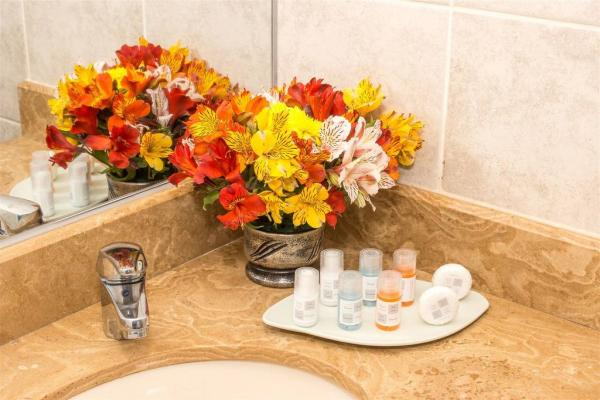 Bathroom amenities at the Hotel Hacienda Plaza de Armas