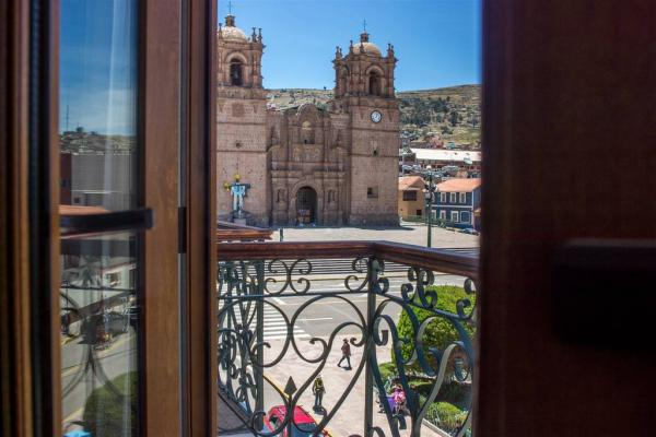 View from the balcony of the Hotel Hacienda Plaza de Armas