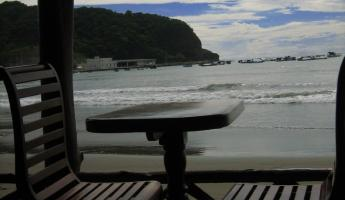 our lunch spot in San Juan del Sur