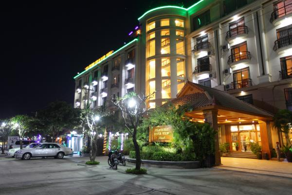 Exterior view of the Ayarwaddy River View Hotel
